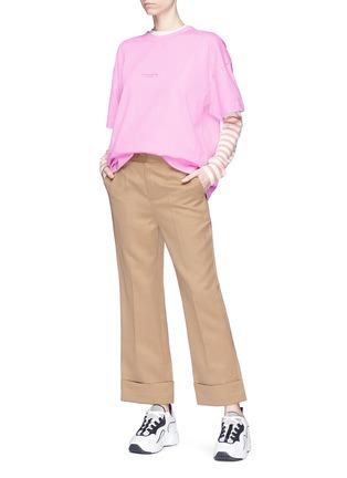 Figure View - Click To Enlarge - Acne Studios - 'Cohrie' stripe sleeve Merino wool sweater