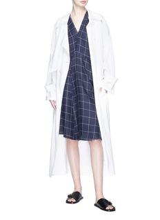 Acne Studios 'Jessia' windowpane check linen shift dress