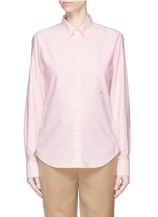 Main View - Click To Enlarge - Acne Studios - 'Ohio Face' patch safari shirt