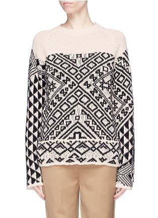 Main View - Click To Enlarge - Acne Studios - 'Rhia' colourblock graphic jacquard sweater