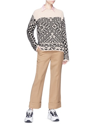 Figure View - Click To Enlarge - Acne Studios - 'Rhia' colourblock graphic jacquard sweater