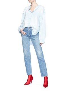 Balenciaga 'Swing' collar oversized chambray shirt