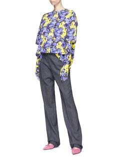 BALENCIAGA 花卉印花棉质T恤及手套