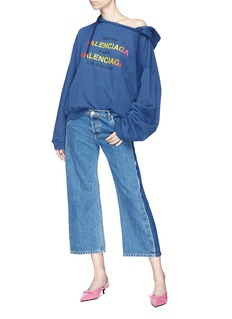 Balenciaga 'Cities' logo print oversized hoodie