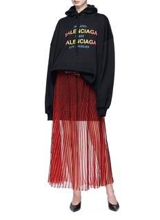 Balenciaga Logo print oversized hoodie