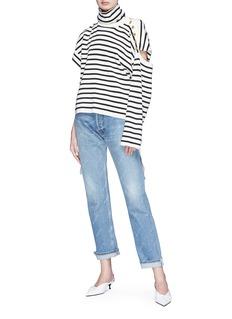 Balenciaga Logo print cropped jeans