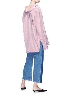 Balenciaga 'Swing' collar stripe oversized shirt