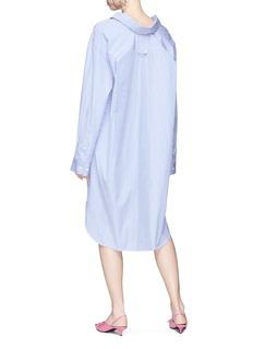 Balenciaga 'Swing' collar stripe oversized shirt dress