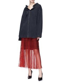 Balenciaga 'Swing' collar oversized denim shirt