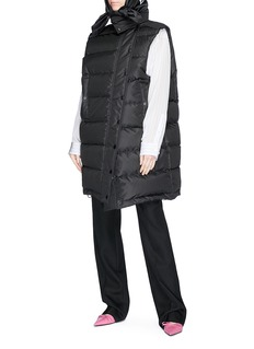Balenciaga Scarf hood oversized down puffer vest