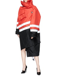 Balenciaga Pulled colourblock scarf hood parka
