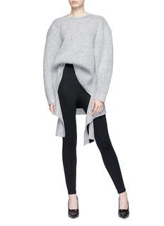 Balenciaga Drape hem metallic sweater
