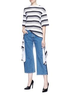 Balenciaga Drape hem stripe oversized T-shirt