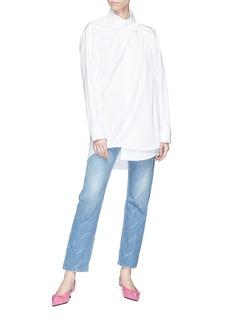 BALENCIAGA 不对称设计纯棉衬衫