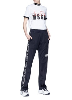 MSGM x Diadora logo print T-shirt