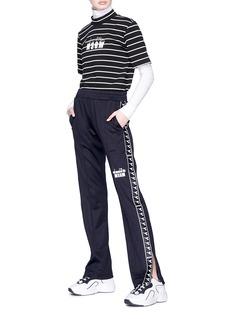 MSGM x Diadora logo stripe outseam sweatpants