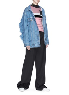MSGM Beaded patch stripe sweater