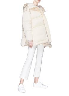 Ms MIN Zip hem hooded puffer jacket