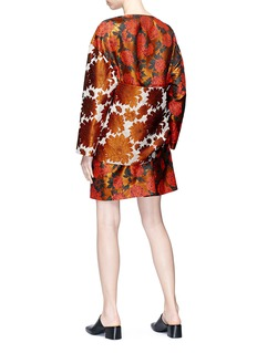 Ms MIN Kimono belt back floral jacquard panel dress