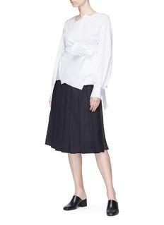 Ms MIN Peplum back knot wrap kimono top