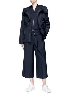 Ms MIN Drawstring hooded jacket