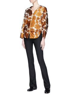 Ms MIN Floral jacquard batwing sleeve jacket