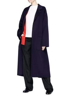 Ms MIN Belted wool melton open coat