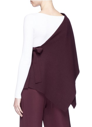 Back View - Click To Enlarge - Ms MIN - Convertible tiered one-shoulder wool cape top