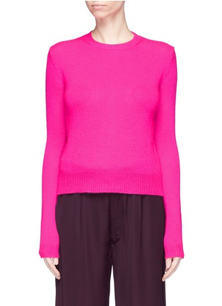 Main View - Click To Enlarge - Ms MIN - Crew neck cashmere sweater