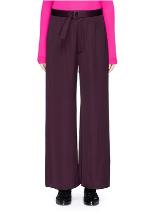 Main View - Click To Enlarge - Ms MIN - Belted wide leg pants
