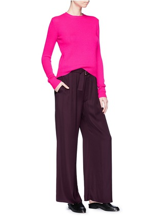 Figure View - Click To Enlarge - Ms MIN - Belted wide leg pants