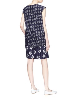 Ms MIN Butterfly floral jacquard deconstructed layered dress