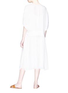 Ms MIN Panelled waist silk chiffon kaftan