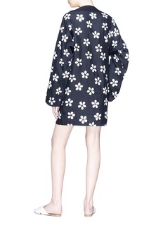 Ms MIN Button sleeve floral print dress