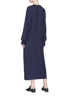 MS MIN 中式盘扣菱格宽松连衣裙