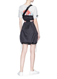 Palm Angels 'Adios' slogan print belted T-shirt panel dress