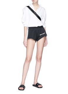 Palm Angels Stripe outseam track shorts