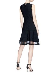 Alexander McQueen Floral jacquard patchwork mini knit dress