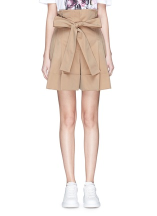 Alexander McQueen Belted suiting shorts ...