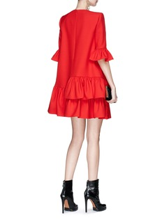 Alexander McQueen Asymmetric ruffle suiting dress