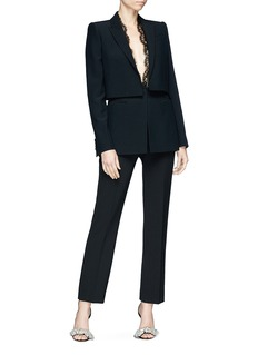 Alexander McQueen Sarabande lace layered suiting jacket