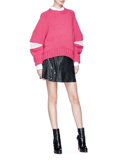 Alexander McQueen Zip wool sweater