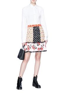 Alexander McQueen Floral jacquard patchwork skirt
