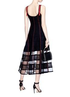 Alexander McQueen Floral jacquard patchwork midi dress