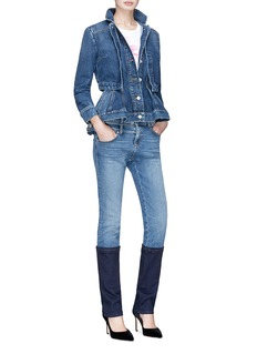 ALEXANDER MCQUEEN 拼接设计修身牛仔裤