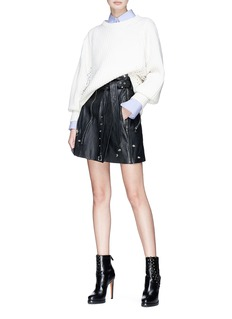 Alexander McQueen Leather belted skirt