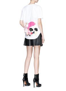ALEXANDER MCQUEEN 水粉画风格骷髅头图案纯棉T恤