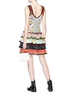 Alexander McQueen Floral jacquard patchwork tiered dress