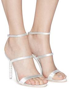 Sophia Webster 'Rosalind' crystal pavé heel velvet sandals