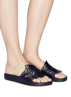 Sophia Webster 'Lia Butterfly' cutout PVC slide sandals